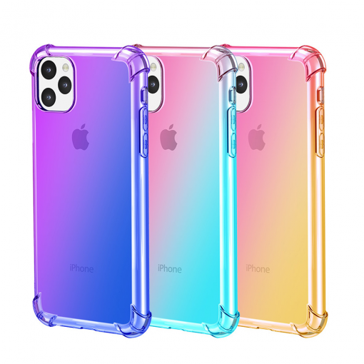 Gradient Clear Silicone Case for iPhone 11/11 Pro/11 Pro Max