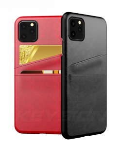 KEYSION Leather Card Pocket Cases for iPhone 11/11 Pro/11 Pro Max