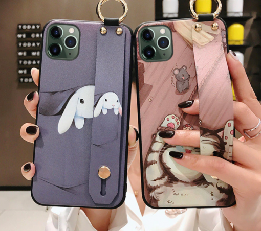 Girls Fashion Case with Wrist Strap for iPhone 11/11 Pro/11 Pro Max