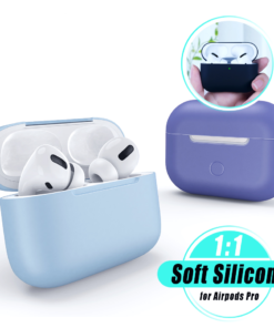 Solid Soft Silicone Case for AirPods Pro