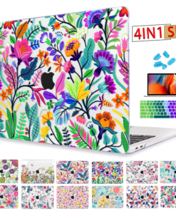 Redlai Colorful Flowers Case for MacBook