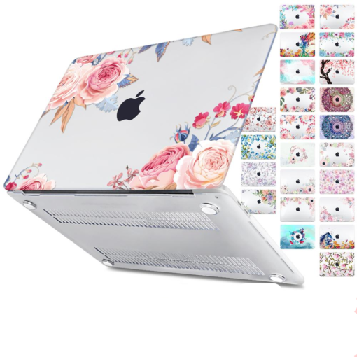 Floral Printing Hard Case for MacBook