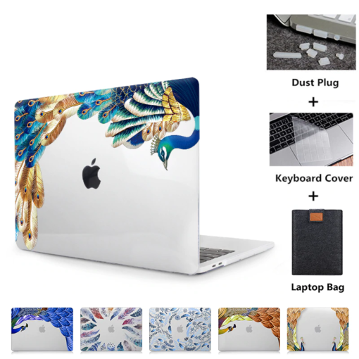 Crystal Feather Hard Colored Case for MacBook