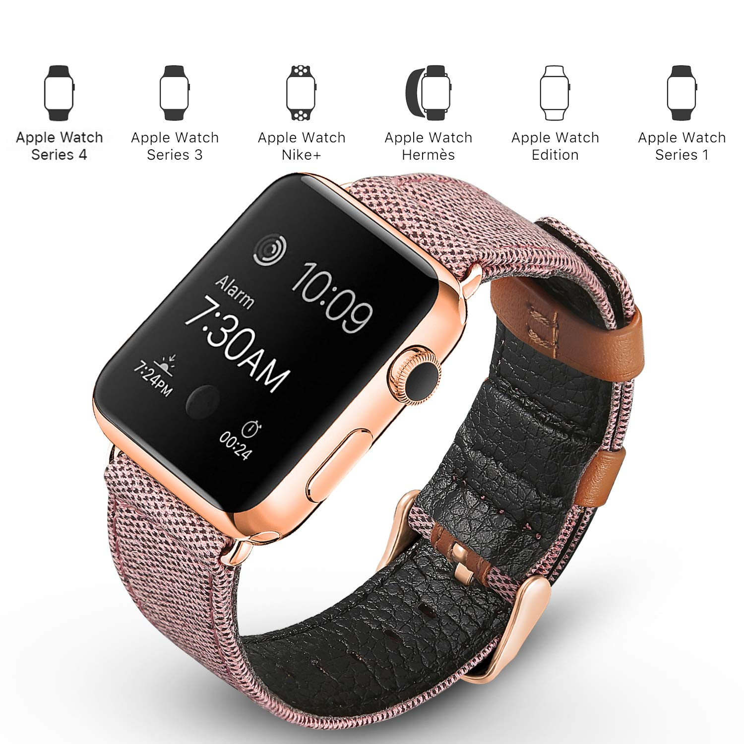Canvas Leather Band for Apple Watch 25