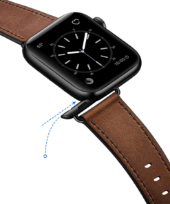 Dark Leather Band for Apple Watch 1