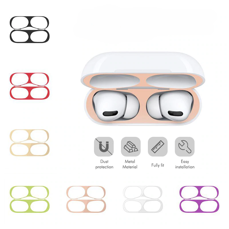 Protective Metal Dust Guard for AirPods Pro 19