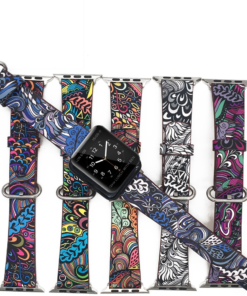 Floral Print Band for Apple Watch
