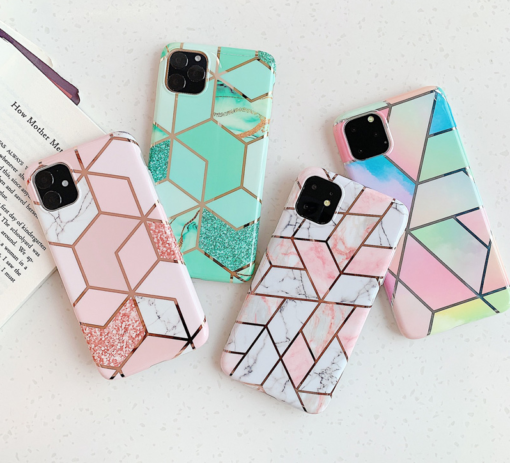 Marble Plating Case for iPhone SE (2020)